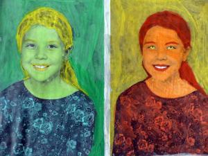 Porträts im Stile von Andy Warhol